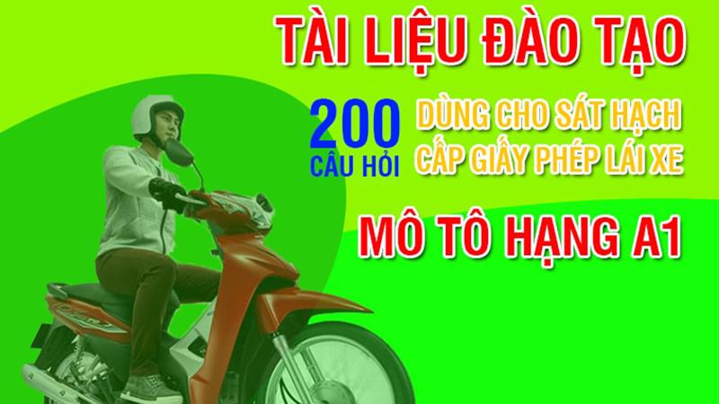 200 câu lý thuyết bằng lái xe máy