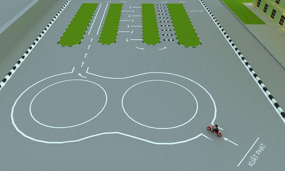 Bài thi thực hành bằng lái xe máy A1