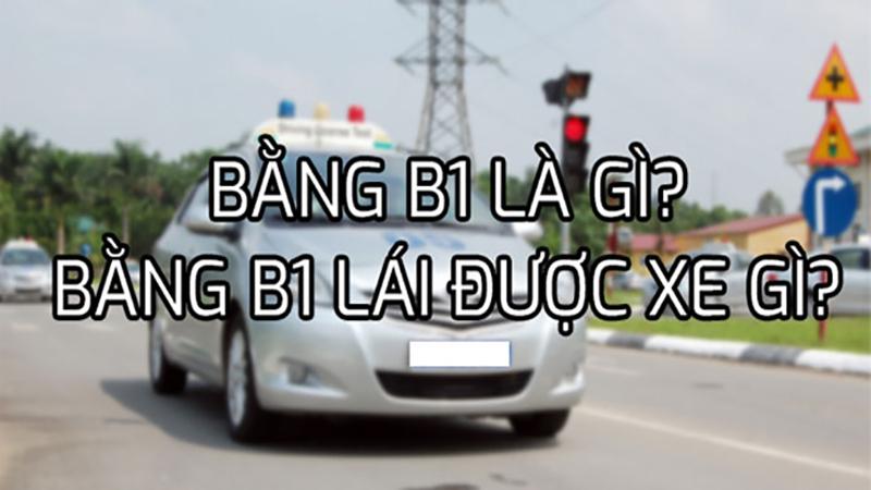 Bằng B1 lái được xe nào?