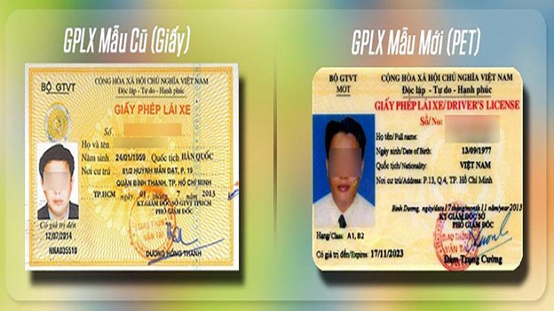 Đổi bằng lái xe sang thẻ PET