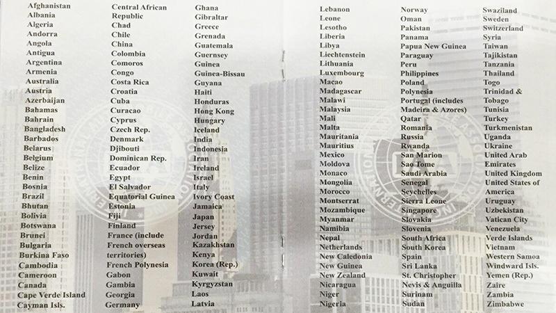 Những quốc gia chấp nhận bằng IAA