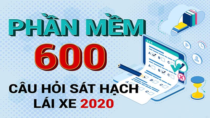 Phần mềm ôn tập 600 câu