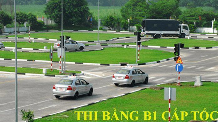 Thi bằng lái xe B1 cấp tốc