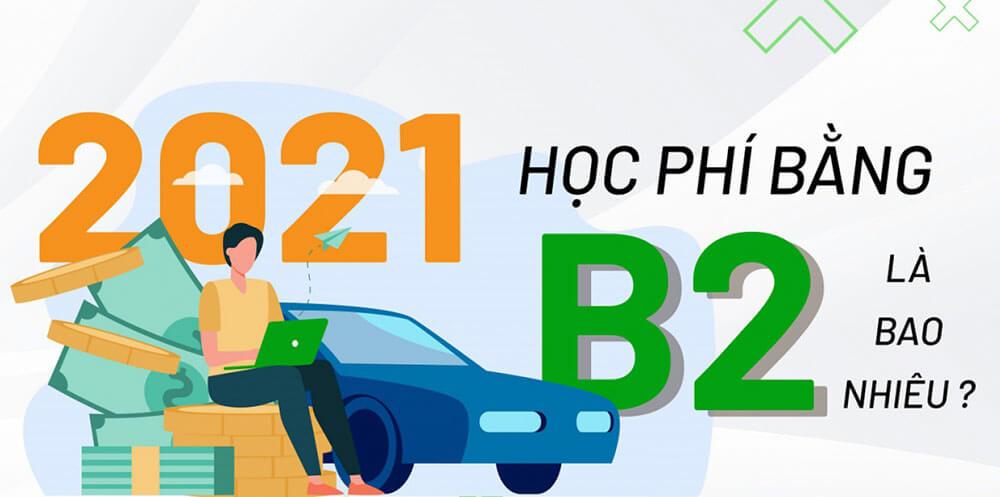 Các khoản phí học bằng lái xe B2